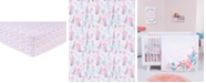 Trend Lab Pastel Painterly Floral Flannel Crib Sheet