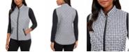 Karen Scott Sport Houndstooth Puffer Vest, Created For Macy's