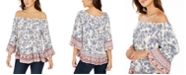 Style & Co Petite On-Or-Off-Shoulder Ruffle Top, Created for Macy's