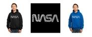 LA Pop Art Boy's Word Art Hoodies - Nasa Worm Logo