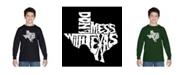 LA Pop Art Boy's Word Art Long Sleeve T-Shirt - Dont Mess With Texas