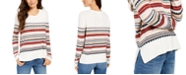 Style & Co Striped Studded Sweater, Created For Macy's