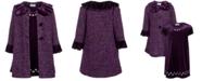 Blueberi Boulevard Little Girls 2-Pc. Tweed Coat & Embroidered Dress Set