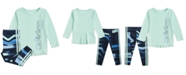 adidas Baby Girls Logo T-Shirt & Printed Tights Set