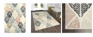 """Global Rug Designs Cresent CRE06 Ivory 5'2"""" x 7'2"""" Area Rug"""