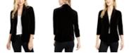 Maison Jules 3/4-Sleeve Velvet Blazer, Created For Macy's