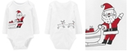 Carter's Baby Boys or Baby Girls Santa Sleigh Cotton Bodysuit