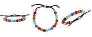 Esquire Men's Jewelry Multi-Color Beaded Bolo Bracelet in Sterling Silver