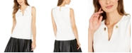 Calvin Klein Toggle-Chain Sleeveless Top