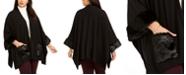 Belldini Plus Size Faux Fur Cape Jacket