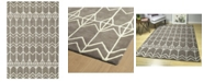 "Kaleen Origami ORG05-75 Gray 3'6"" x 5'3"" Area Rug"