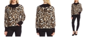 Vince Camuto Animal-Patterned Jacquard Sweater