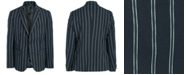Lauren Ralph Lauren Big Boys Classic-Fit Stretch Navy Blue Stripe Sport Coat
