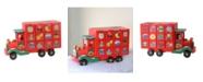 "Northlight 14"" Children's Advent Calendar Red Storage Truck Christmas Decoration"