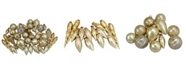 Northlight 36-Piece Gold Collection Asymmetrical Christmas Ornament Set