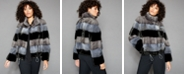 The Fur Vault Striped Mink-Fur Jacket
