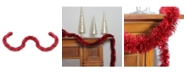 Northlight 50' Traditional Shiny Red 8 Ply Christmas Foil Tinsel Garland - Unlit