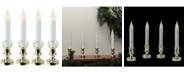 """Northlight Set of 4 LED Flickering Window Christmas Candle Lamp with Timer 8.5"""""""