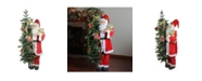 """Northlight 50"""" Musical Standing Santa Claus Figure with Lighted Christmas Tree and Teddy Bear"""