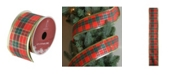 Northlight Stripe Wired Christmas Craft Ribbon Yards