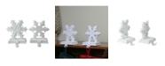 Northlight Set of 2 Snowflake Glittered Christmas Stocking Holder