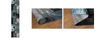 """Main Street Rugs Alba Alb307 Blue/Gray 2' x 7'2"""" Runner Rug"""