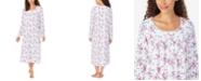 Eileen West Cotton Jersey-Knit Printed Ballet Nightgown