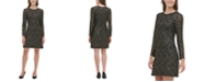 Tommy Hilfiger Metallic Lace A-Line Dress