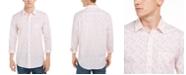 Club Room Men's Tennis Player Print Shirt, Created For Macy's