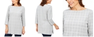 Karen Scott Cotton Plaid Tunic, Created For Macy's