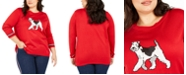 Tommy Hilfiger Plus Size Knit Dog Graphic Sweater, Created For Macy's