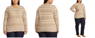 Lauren Ralph Lauren  Plus Size Fair Isle Crewneck Sweater
