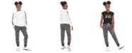 Ideology Big Girls Fleece Hoodie, Keyhole-Cutout T-Shirt & Printed Fleece Pants, Created For Macy's