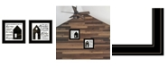 "Trendy Decor 4U House/Blessing 2-Piece Vignette by Cindy Jacobs, Black Frame, 15"" x 15"""