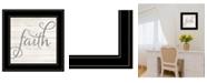 """Trendy Decor 4U Simple Words - Faith by Marla Rae, Ready to hang Framed Print, Black Frame, 15"""" x 15"""""""