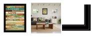 "Trendy Decor 4U Live Joyfully by Marla Rae, Ready to hang Framed Print, Black Frame, 21"" x 27"""