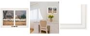 "Trendy Decor 4U Wool Gathering by Bonnie Mohr, Ready to hang Framed Print, White Window-Style Frame, 21"" x 15"""