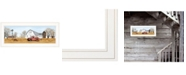 "Trendy Decor 4U Autumn on Farm by Billy Jacobs, Ready to hang Framed Print, White Frame, 27"" x 11"""