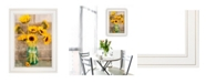 """Trendy Decor 4U Country Sunflowers I by Anthony Smith, Ready to hang Framed print, White Frame, 15"""" x 19"""""""