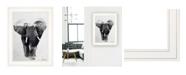 "Trendy Decor 4U Elephant Walk by andreas Lie, Ready to hang Framed Print, White Frame, 15"" x 19"""