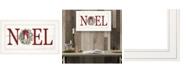 "Trendy Decor 4U Christmas Noel by Lori Deiter, Ready to hang Framed Print, White Frame, 21"" x 12"""