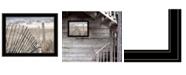 "Trendy Decor 4U On The Coastline by Lori Deiter, Ready to hang Framed Print, Black Frame, 27"" x 21"""