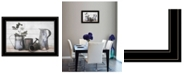 "Trendy Decor 4U Floral Farmhouse II by Robin-Lee Vieira, Ready to hang Framed Print, Black Frame, 21"" x 15"""
