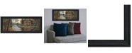"""Trendy Decor 4U Peace Like a River Panoramic by Kim Norlien, Ready to hang Framed Print, Black Frame, 39"""" x 15"""""""