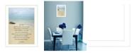 "Trendy Decor 4U Sea Fever By Trendy Decor4U, Printed Wall Art, Ready to hang, White Frame, 14"" x 10"""