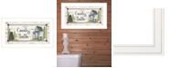 "Trendy Decor 4U Country Bath by Mary Ann June, Ready to hang Framed Print, White Frame, 21"" x 12"""