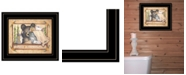 "Trendy Decor 4U Bear Necessities by Mary Ann June, Ready to hang Framed Print, Black Frame, 13"" x 11"""