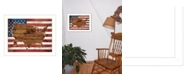 "Trendy Decor 4U American Flag USA Map By Marla Rae, Printed Wall Art, Ready to hang, White Frame, 26"" x 20"""