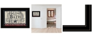 "Trendy Decor 4U Trendy Decor 4U Hot Bath By Linda Spivey, Ready to hang Framed Print, Black Frame, 19"" x 15"""