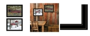 """Trendy Decor 4U Billy Jacobs Covered Bridge Collection III 2-Piece Vignette by Billy Jacobs, Black Frame, 27"""" x 21"""""""